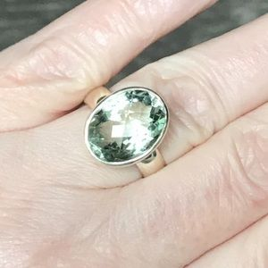 Jewelry - Green Amethyst Sterling Silver Ring, 5 1/2 carats